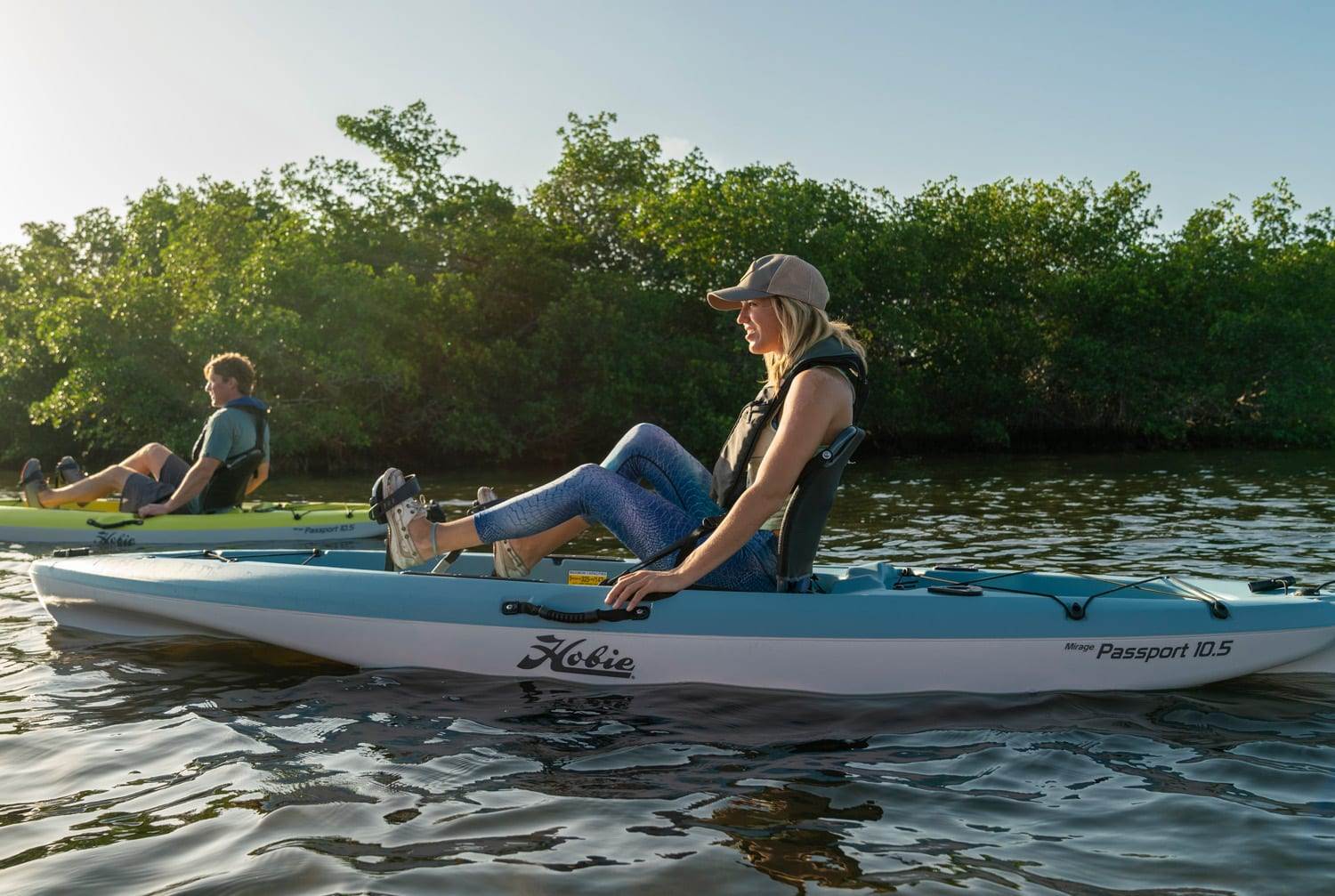 Pedal kayak hire activities at Rockley Park