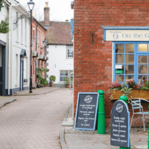 The quaint shops at Wimborne on ebike tour 2