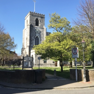 St James Church Old Town Poole on ebike tour 1