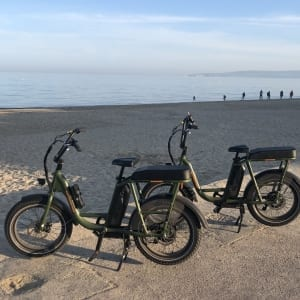The ebikes at Shore Road Sandbanks on ebike tours 3 and 4