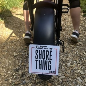 Number plate for shore thing ebike for rental
